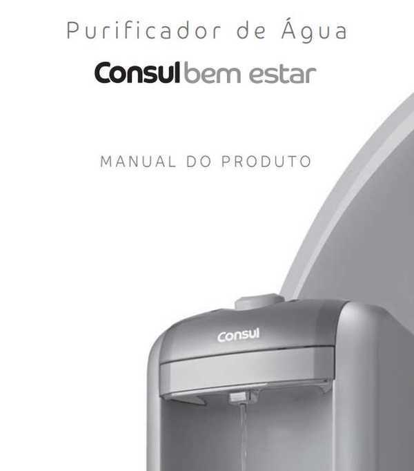 Purificador de água Consul - capa manual
