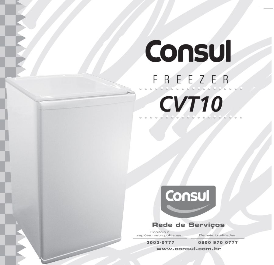 Freezer Consul - capa manual