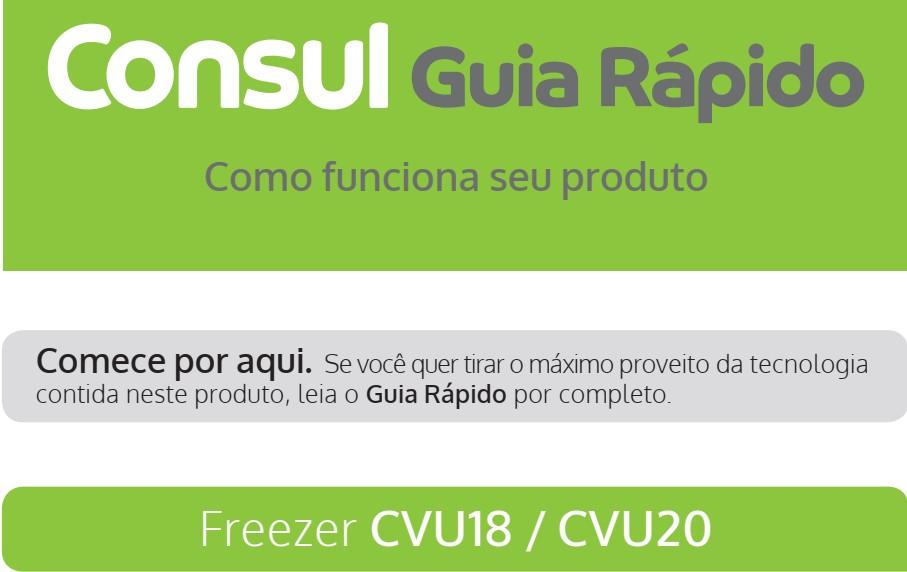 Manual de instruções do freezer Consul CVU18