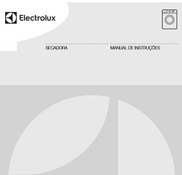 Manual de Instruções da secadora de roupas Electrolux