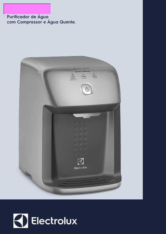 Manual de Instruções do purificador de água Electrolux