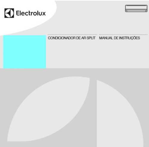 Ar condicionado Electrolux - capa manual