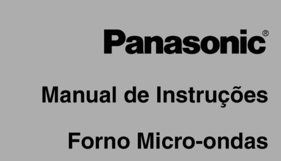Manual de instruções do microondas Panasonic