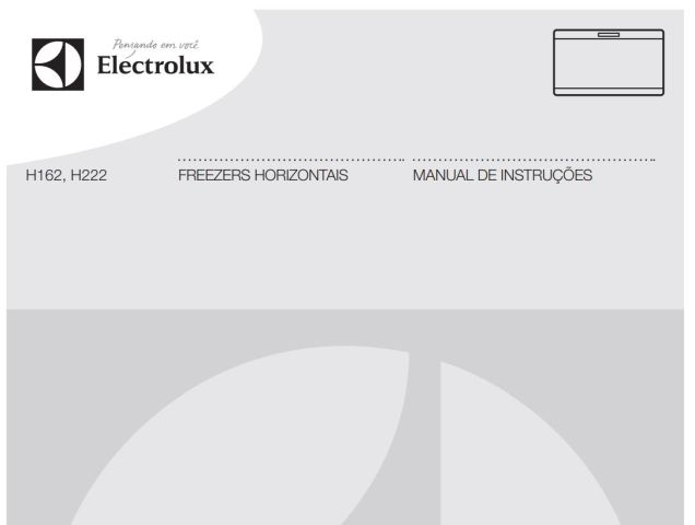 Freezer Electrolux H162 - capa manual