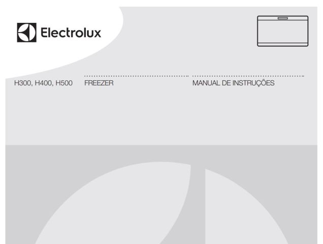 Freezer Electrolux - capa manual