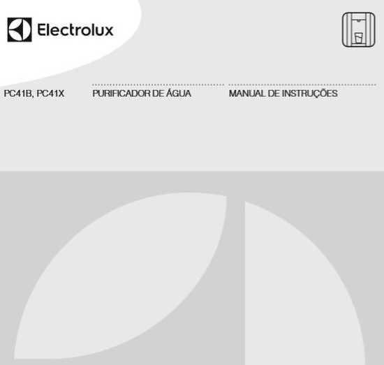 Purificador de água Electrolux - capa manual