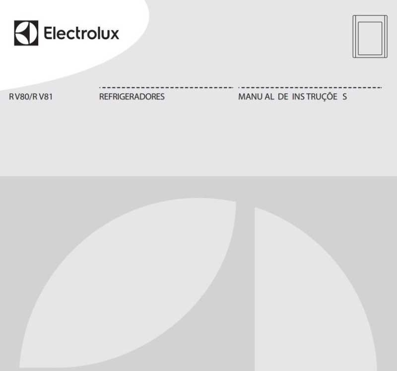 Manual de Instruções do Frigobar Electrolux RV80