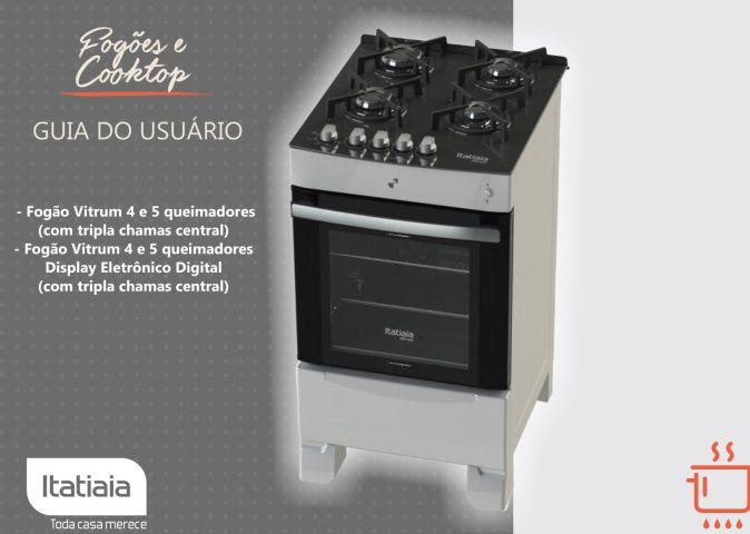 Manual de instruções do fogão Itatiaia Linha Vitrum