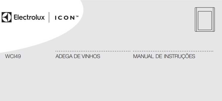 Manual de Instruções da Adega Electrolux WCI49
