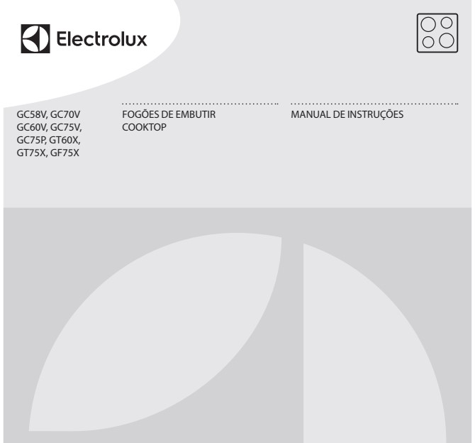 Cooktop Electrolux - capa manual