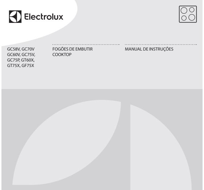 Manual de Instruções do cooktop Electrolux GC60V