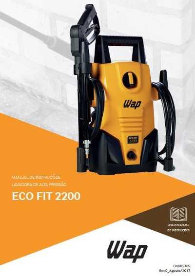 Medidas da Lavadora de Alta Pressão Wap - Ecofit 2200