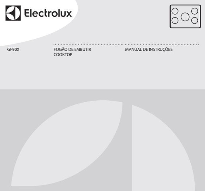 Manual de Instruções do cooktop Electrolux GF90X