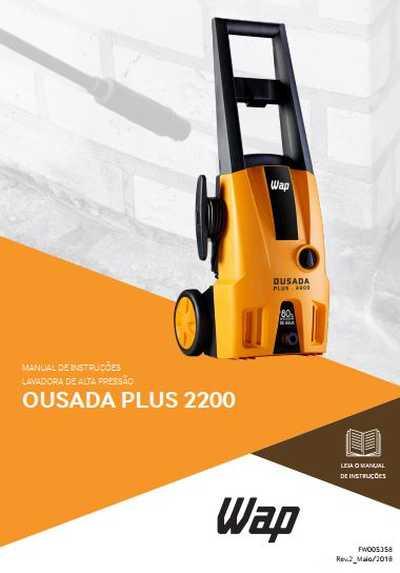 Medidas da Lavadora de Alta Pressão Wap - Ousada Plus 2200