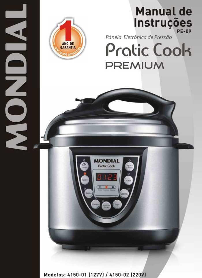 Manual da panela de pressão elétrica Mondial PE-09