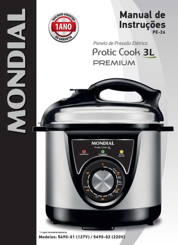 Manual da panela de pressão elétrica Mondial PE-26