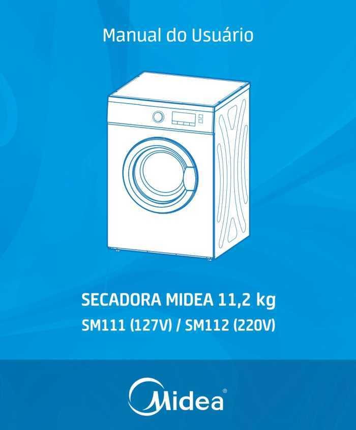 Manual de instruções da secadora de roupas Midea SM11