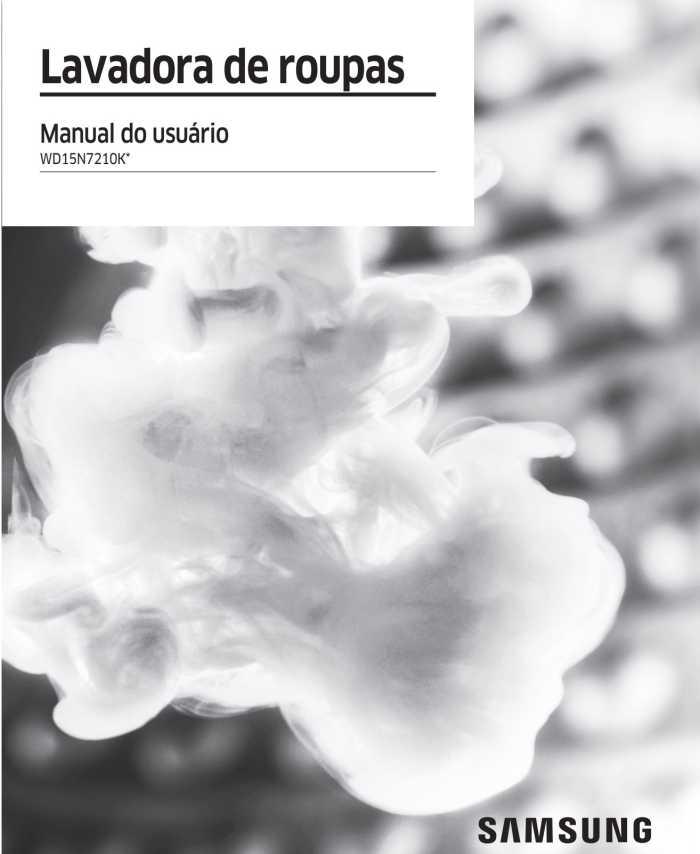 Manual da Lava e Seca Samsung 15 Kg WD15N7210K