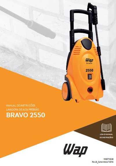 Medidas da Lavadora de Alta Pressão Wap - Bravo 2550