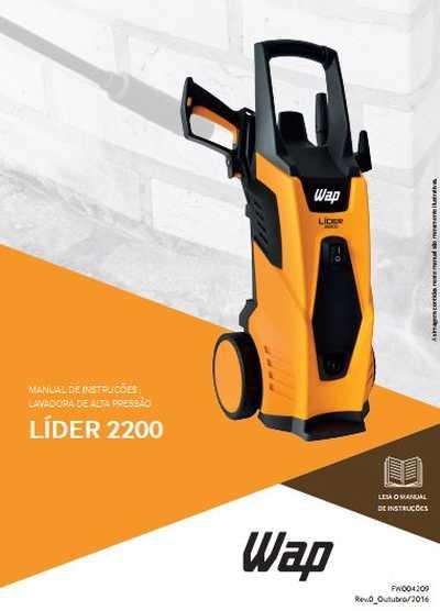 Medidas da Lavadora de Alta Pressão Wap - Líder 2200
