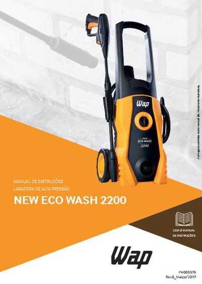 Medidas da Lavadora de Alta Pressão Wap - New Eco Wash 2350