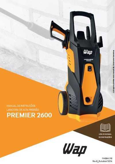Medidas da Lavadora de Alta Pressão Wap - Premier 2600
