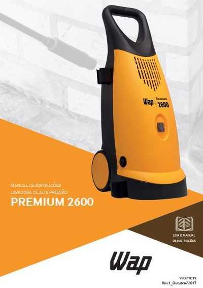 Medidas da Lavadora de Alta Pressão Wap - Premium 2600