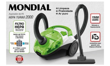 Medidas do Aspirador de pó Mondial Hepa Turbo 2000 Green – AP-17
