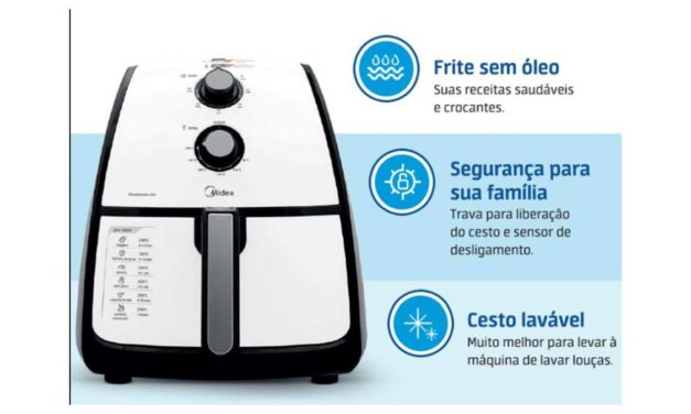 Manual da Fritadeira sem óleo Midea Liva 4L Branco FRA4