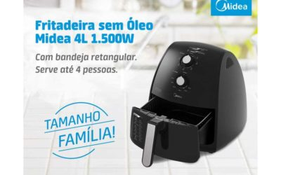 Manual da Fritadeira sem óleo Midea 4 litros Preta – FRP4