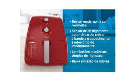 Manual da Fritadeira sem óleo Midea 4L Vermelha FRV4