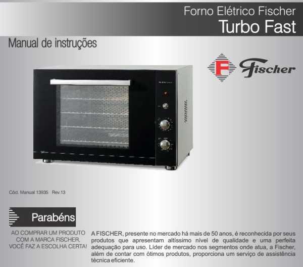 Manual de instruções do forno elétrico Fischer 13687