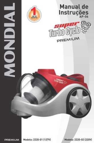 Manual de instruções do aspirador de pó Mondial