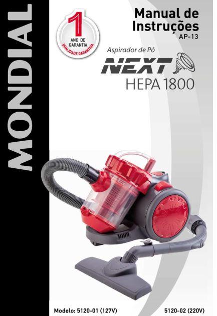 Aspirador de pó Mondial - capa manual
