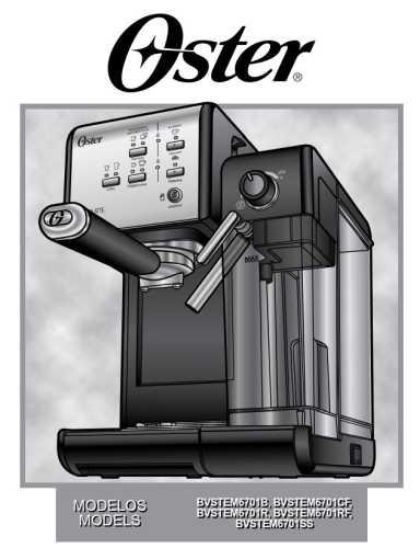 Manual de instruções da cafeteira elétrica Expresso Oster PrimaLatte II Red