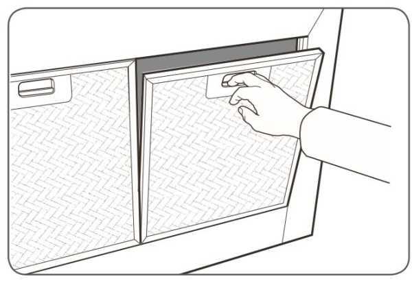 Coifa de parede Electrolux - limpeza filtro alumínio