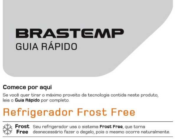 Capa manual Geladeira Brastemp BRB39