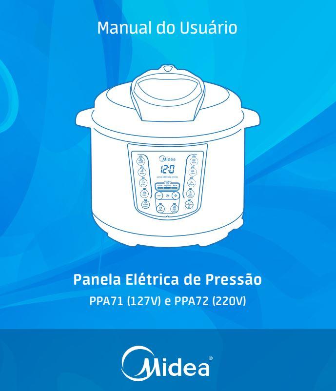 Manual da panela de pressão elétrica Midea PPA7