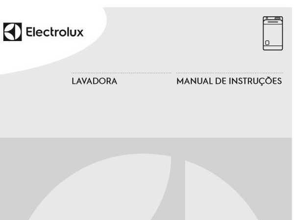Lavadora de roupas Electrolux LPR13 - capa manual