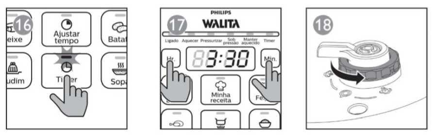 Panela de pressão elétrica Philips Walita 5L Viva Collection - como usar