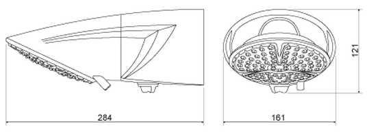 Medidas da Ducha LorenzettI Top Jet Multitemperaturas