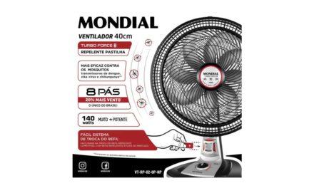 Medidas do Ventilador Mondial 40 cm 8 Pás – VT-RP-02-8P-NP