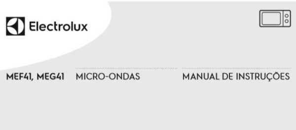 Microondas Electrolux - capa manual