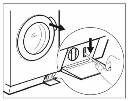 Lavadora de Roupas Electroux LFE10 - abertura da porta emergência