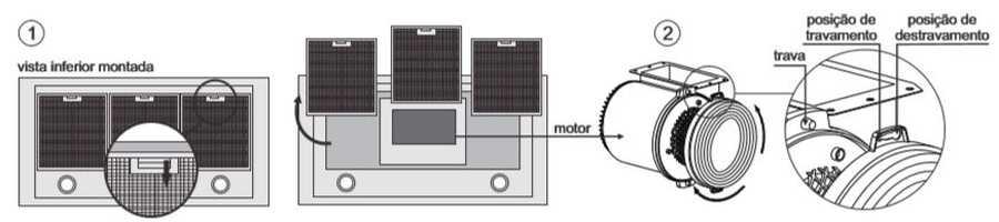 Coifa Fischer 90 cm de Parede Tradition Line - 11176 - trocar filtro de carvão ativado
