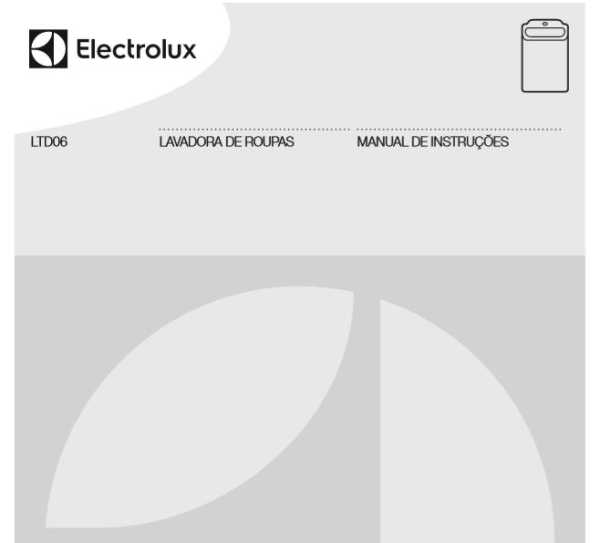 Lavadora de roupas Electrolux - capa manual