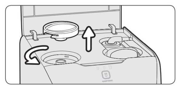 Limpeza do reservatório de água purificador de água electrolux