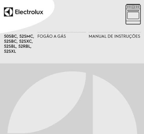 Fogão Electrolux de piso - capa manual