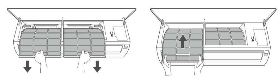 Ar condicionado LG inverter frio 9000 BTU - limpeza filtro