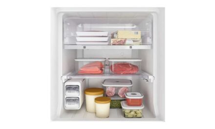 Medidas da geladeira Electrolux 400L Top Freezer DW44S
